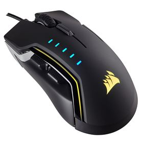 Corsair GLAIVE RGB Gaming Mouse - Aluminium