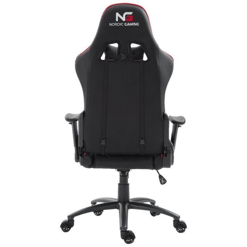 Nordic Gaming Racer Gamer Stol RødSort