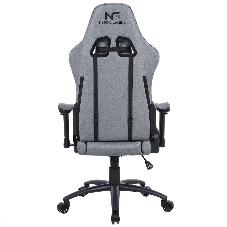 Nordic Gaming Racer Gamer Stol Fabric Grey